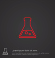 laboratory outline symbol red on dark background vector image vector image