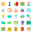 large data warehouse icons set cartoon style vector image vector image