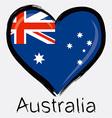 love Australia flag vector image vector image