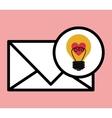 love letter design vector image vector image