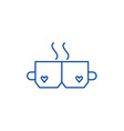 love tea line icon concept love tea flat vector image