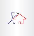 man repair house vector image