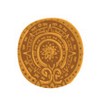 mayan calendar maya civilization symbol american vector image vector image