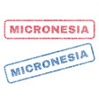 micronesia textile stamps vector image vector image