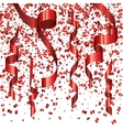 modern festive background red confetti vector image vector image
