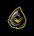 ninja with bird mask gaming mascot or esports logo vector image