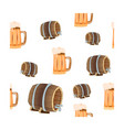 oktoberfest concept seamless pattern with beer vector image vector image