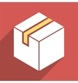 Package Flat Long Shadow Square Icon vector image