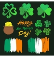 Patricks Day Symbols Set vector image