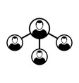 people network social connection icon group vector image