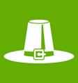 pilgrim hat icon green vector image vector image