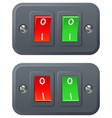 red and green switches vector image