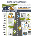 road infographics for presentation design vector image