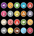 Safety icons with long shadow vector image vector image