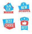 season sale badges and tags design set for vector image vector image