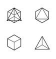 set of geometric figures vector image vector image