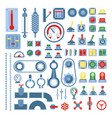 set of measuring equipment - modern vector image vector image