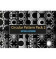 Set of round and circular decorative patterns vector image vector image