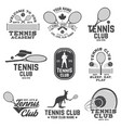 set of tennis club badges vector image vector image