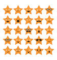 set stars with different emotions vector image vector image