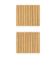 set wooden fences vector image