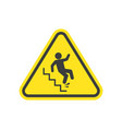 slippery stairs warning vector image vector image