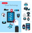 Smart Technology Concept Composition vector image vector image