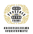 Stock set of serif font vector image vector image