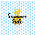 summer sale card design vector image vector image