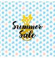 summer sale card design vector image