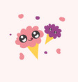 sweet funny ice cream vector image