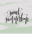 sweet summertime - hand lettering poster to summer vector image vector image
