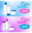 Template Gift Voucher on Cosmetics vector image