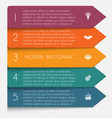 template infographic horizontal colorful arrows vector image vector image