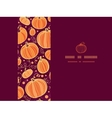 Thanksgiving pumpkins horizontal frame seamless vector image vector image