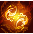 The Fire element vector image