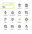 time concept - line design icons set vector image