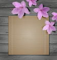 Tropical Wooden Background Design vector image
