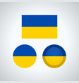 ukrainian trio flags vector image