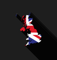United Kingdom UK flag map flat design vector image vector image