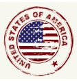 us flag grunge ink stamp vector image vector image