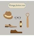 Vintage fashion men elements set vector image vector image
