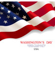 washingtons day flag usa vector image vector image