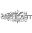 what is cardiomyopathy text word cloud concept vector image vector image
