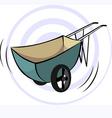 wheel barrow vector image vector image