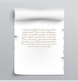 white sheet papyrus vector image