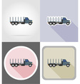 truck flat icons 07 vector image