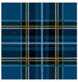 Traditional Seamless Blue Tartan Pattern vector image