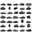 30 Ship and boat icon set vector image
