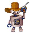 A toy robot holding a gun vector image vector image
